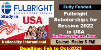 Fulbright Scholarships 2022-2023 in USA For Masters & PhD [Fully Funded]