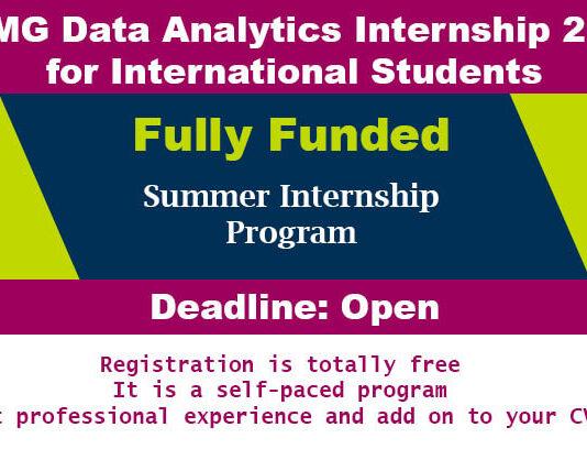 KPMG Data Analytics Internship 2020 for International Students