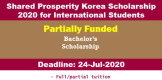 Shared Prosperity Korea Scholarship 2020 for International Students