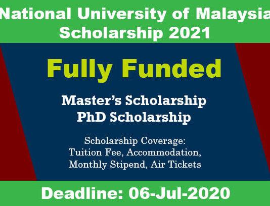 Universiti Kebangsaan Scholarship 2021 in Malaysia (Fully Funded)