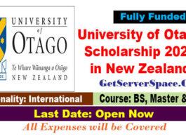 University of Otago Scholarship 2021 in New Zealand Fully Funded