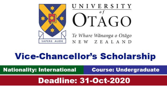 University of Otago Undergraduate Scholarship 2020 in New Zealand