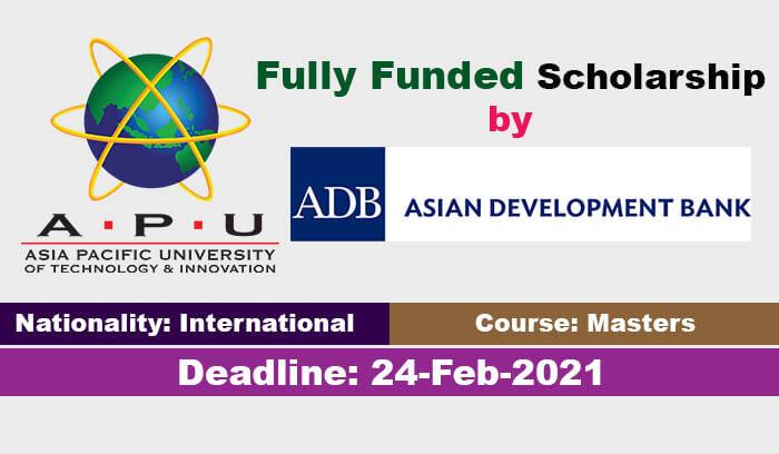 Asian Development Bank Scholarships 2021 in Japan (Fully ...