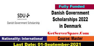 Danish Government Scholarships 2022 in Denmark