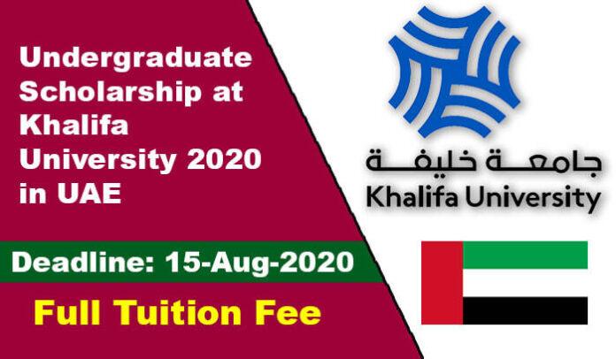Undergraduate Scholarship at Khalifa University 2020 in UAE