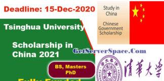 CSC Scholarship at Tsinghua University in China 2021 [Fully Funded]