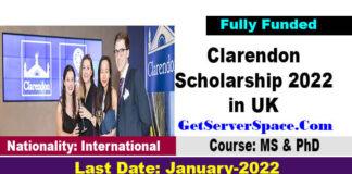Clarendon Scholarship 2022 at Oxford University in UK [Fully Funded]
