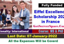 Eiffel Excellence Scholarship 2021 in Paris-France Fully Funded