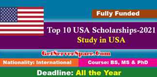 USA Scholarships List to Study in USA 2020-21 For Foreigners [Fully Funded]