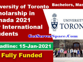 University of Toronto Scholarships in Canada 2021 For Foreigner's [Fully Funded]