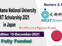 Yokohama National University MEXT Scholarship 2021 in Japan [Fully Funded]