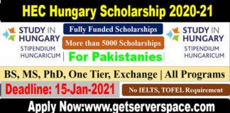 HEC Stipendium Hungaricum Scholarship 2021-22 for Pakistani Students [Fully Funded]