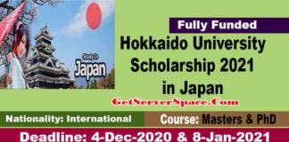 Hokkaido University Scholarship 2021 in Japan For International Students [Fully Funded]