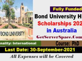 Bond University HDR Scholarships 2022 in Australia [Fully Funded]