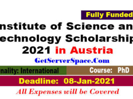 Institute of Science and Technology Scholarships 2021 in Austria [Fully Funded]: