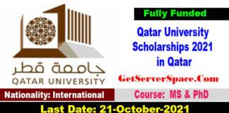 Qatar University Scholarships 2021 in Qatar For MS & PhD [Fully Funded]