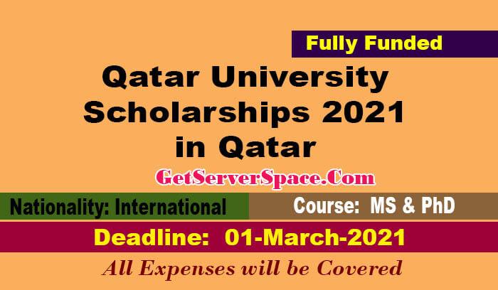Qatar University Scholarships 2021 in Qatar For MS & PhD ...