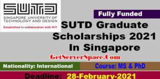 SUTD Graduate Scholarships 2021 In Singapore For MS & PhD [Fully Funded]