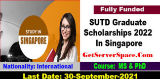 SUTD Graduate Scholarships 2022 In Singapore [Fully Funded]