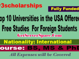 Top 10 Universities in the USA Offered Free Studies For Foreign Students