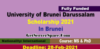 University of Brunei Darussalam Scholarship 2021 For MS & PhD [Fully Funded]
