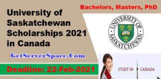 University of Saskatchewan Full Scholarships 2021 in Canada [Fully Funded]