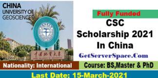 China University of Geosciences CSC Scholarship 2021 In China[Fully Funded]
