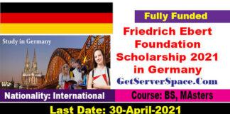 Friedrich Ebert Foundation Scholarship 2021 in Germany [Fully Funded]