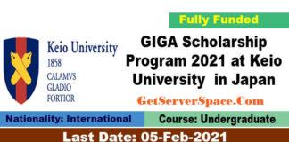 GIGA Scholarship Program 2021 at Keio University in Japan[Fully Funded]