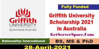 Griffith University International Scholarship 2021 in Australia [Fully Funded]