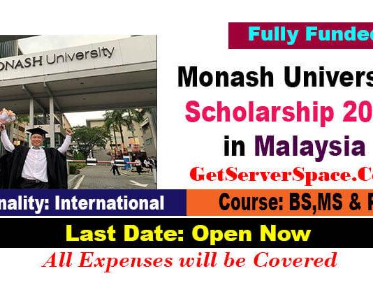 Monash University Scholarship 2021 in Malaysia [Fully Funded]