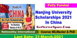 Nanjing University Scholarships 2021 In China [Fully Funded]