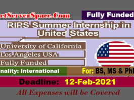 RIPS Summer Internship in United States 2021[Fully Funded]