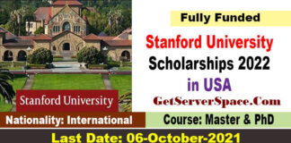 Stanford University Knight Hennessy Scholarships 2022 in USA [Fully Funded]
