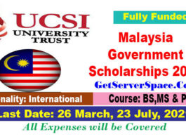 UCSI University Trust Scholarships 2021 in Malaysia[Fully Funded]