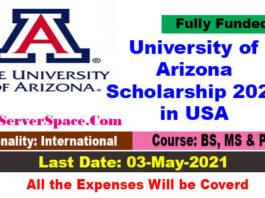University of Arizona Scholarship 2021 in USA [Fully Funded]