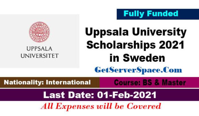 Uppsala University Scholarships 2021 in Sweden For Foreigner Students [Fully Funded]
