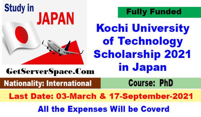 Kochi University of Technology Scholarship 2021 in Japan [Fully Funded]