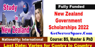 New Zealand Government Scholarships 2022 for International Students[ Fully Funded]
