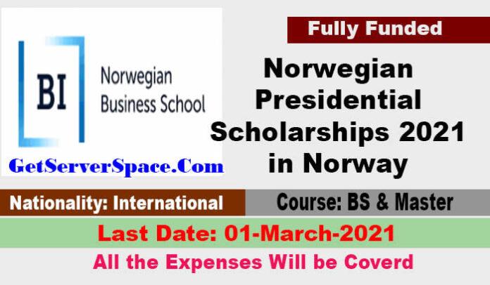 Norwegian Presidential Scholarships 2021in Norway [Fully Funded]