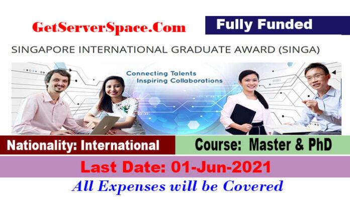 Singapore International Graduate Scholarship 2022 in Singapore[Fully Funded]