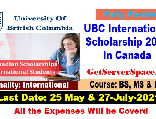 UBC International MBA Entrance & Merit Scholarship 2021 In Canada