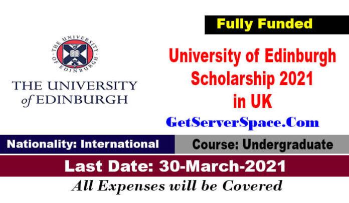 University of Edinburgh Global Online Scholarship 2021 in UK