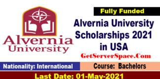 Alvernia UniversityInternational Scholarships 2021 in USA [Fully Funded]