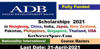 Asian Development Bank Scholarships 2021 For International Students