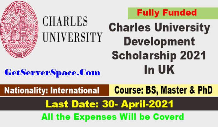 Charles University Development Scholarship 2021 In UK [Fully Funded]
