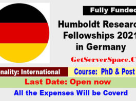 Humboldt Research Fellowships 2021 in Germany [Fully Funded]
