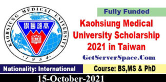 Kaohsiung Medical University Scholarship 2022 in Taiwan Fully Funded