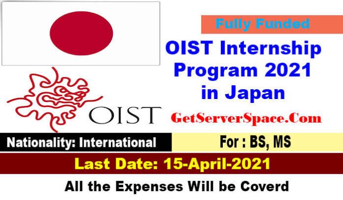 OIST Internship Program 2021 in Japan [Fully Funded]