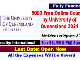 5000 Free online courses by University of Queensland 2021 in Australia